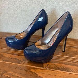 NEW 8.5 Steve Madden Blue Platform Heels
